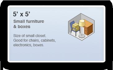 5x5 Locker Size Guide The smallest unit available is our mini 5×5 storage ...  sc 1 st  Self Storage & 5 x 5 Storage Unit Rental in Pickerington Ohio - 25 Sq Ft