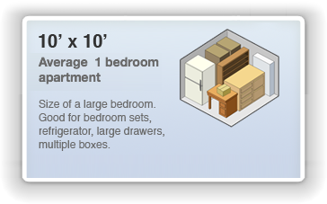 10x10 Locker Size Guide